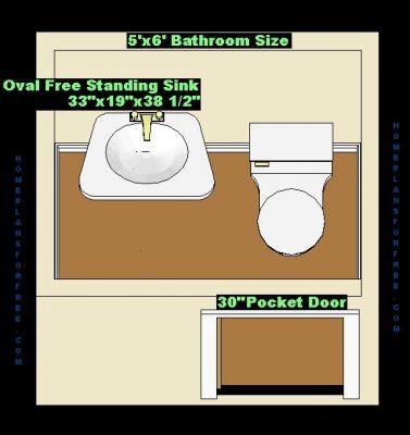 free bathroom plan design ideas - bathroom design 5x6 size